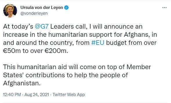 3872228 - اتحادیه اروپا کمکهای بشردوستانه به افغانها را ۴ برابر میکند!