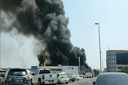 Fire breaks out near Dubai Airport (+VIDEO)