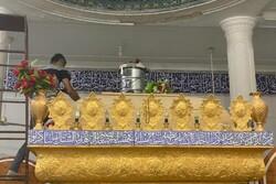بقعه متبرکه امامزاده شاه فرج الله لامرد غبارروبی شد