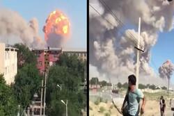 انفجار در انبار تسلیحات نظامی در قزاقستان