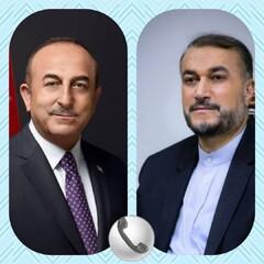 تبریک وزیر خارجه ترکیه به حسین امیرعبداللهیان