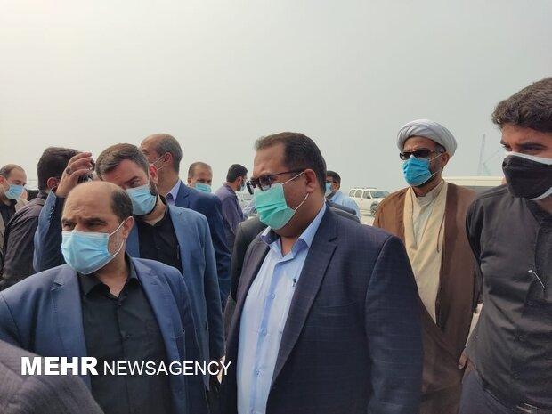 بازدید سردار سید حسین هوش السادات فرمانده قرارگاه سازندگی خاتم الانبیا از بندر پارسیان -
