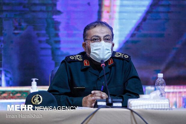 Basij commander's visit to Hamedan