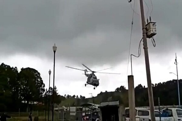 Mexican navy helicopter makes crash landing