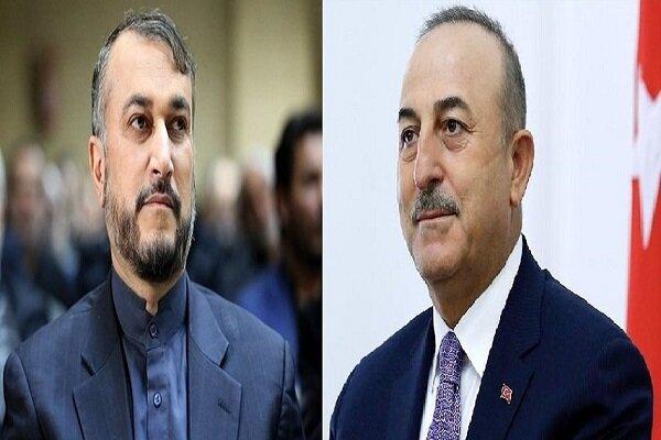 مولود تشاويش أوغلو يهنىء حسين أميرعبداللهيان بتوليه منصبه الجديد
