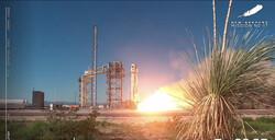 موشک بلواوریجین همراه اثر هنری به فضا پرتاب شد