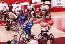 تیم ملی بسکتبال با ویلچر ایران - بسکتبال با ویلچر آمریکا