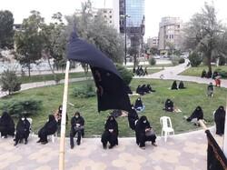 برگزاری مجالس روضه های خانگی بانوان اردبیلی در فضای باز