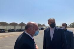 «امیرعبداللهیان» وارد بغداد شد