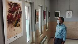 نمایشگاه پوستر سوگواره هنر عاشورایی در قم در حال برگزاری است
