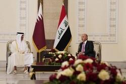 رایزنی برهم صالح و الکاظمی با امیر قطر