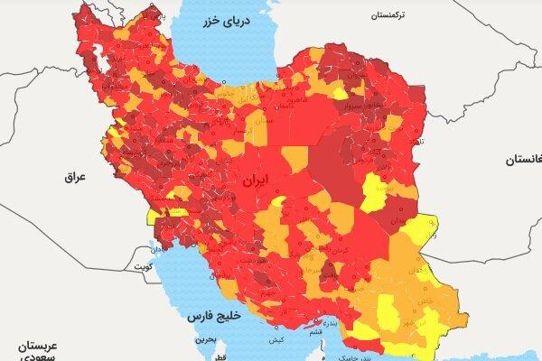 ۴۰ درصد شهرستانهای استان بوشهر از وضعیت قرمز خارج شدند