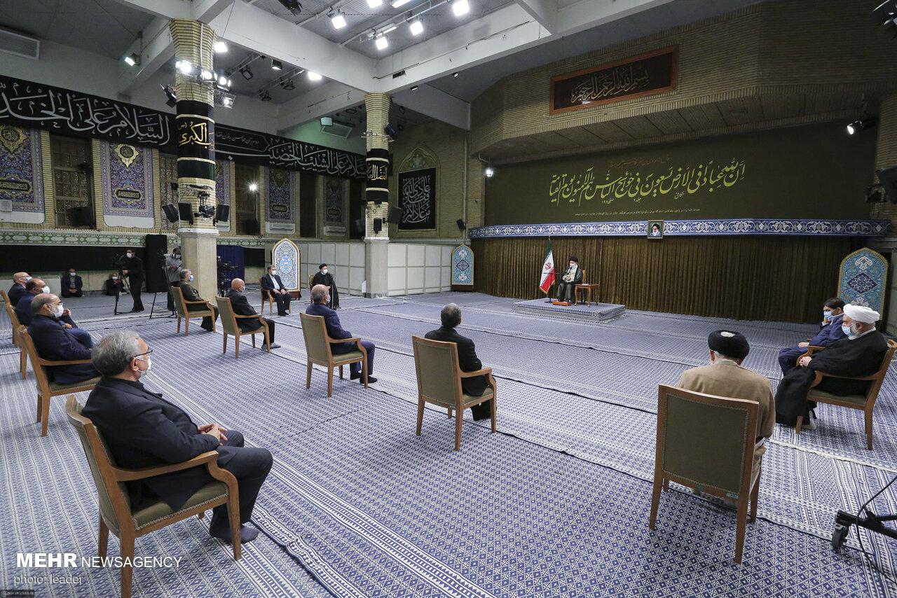 نخستین دیدار هیئت دولت سیزدهم با رهبر انقلاب