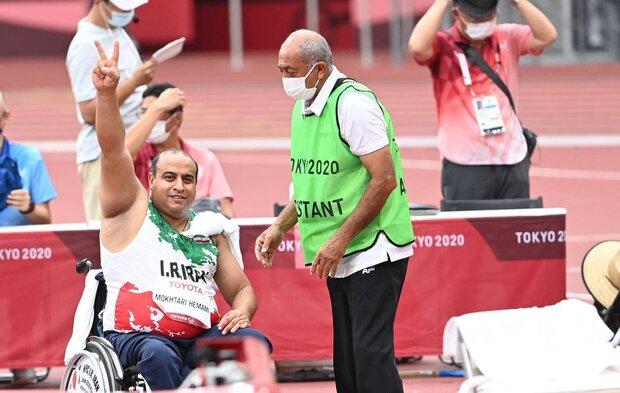 Shot putter Mokhtari wins silver for Iran: Paralympics
