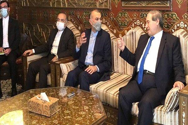 ایران اور شام کا اقتصادی  اور تجارتی تعلقات کو فروغ دینے کے عزم کا اعلان
