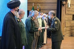 Introducing ceremony of new Iranian Defense Minister