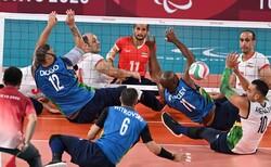 تیم والیبال نشسته ایران - برزیل