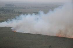 آتش بخش عراقی تالاب هورالعظیم را فراگرفت/ ورود دود به رفیع