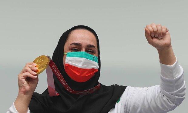 """ذهبية مسدس الهواء للمتألقة الإيرانية """"جوانمردي"""""""