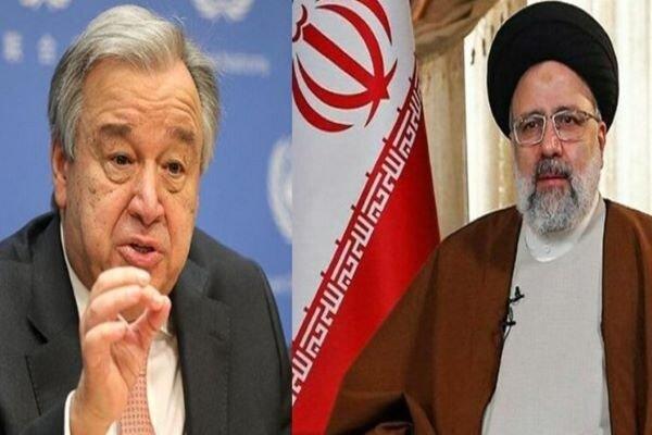 غوتيريش: نحرص على العمل مع الحكومة الإيرانية لتحقيق السلام في العالم