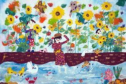 Iranian children winners of Japan's JQA drawing contest
