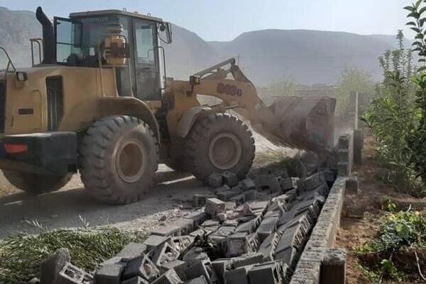 ۲۵۶ ساختوساز غیرمجاز در زمینهای کشاورزی رباطکریم تخریب شد