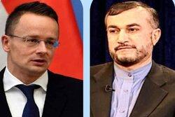 وزير خارجية المجر يهنئ امير عبداللهيان لتوليه منصب الخارجية الايرانية