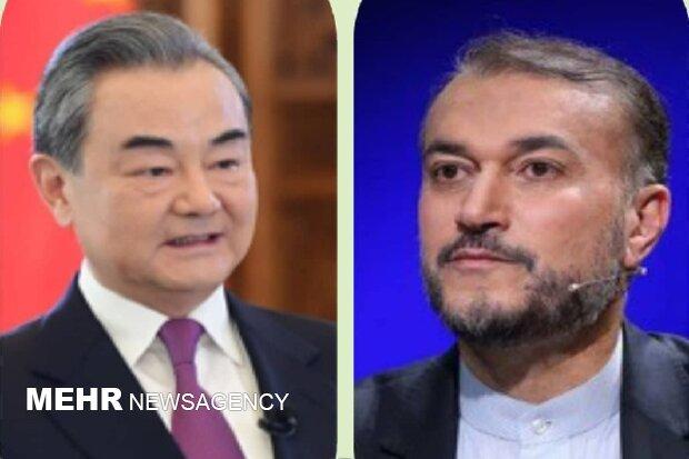 وزير الخارجية الصيني يؤكد على دور ايران البناء في المنطقة