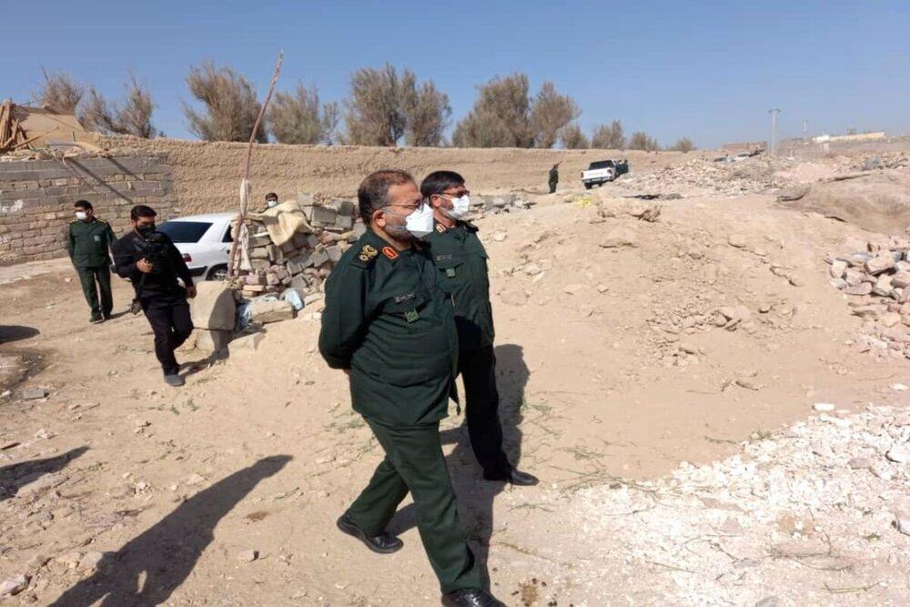 منازل آسیب دیده زلزله اندیکا با مشارکت سپاه و بسیج ساخته میشود