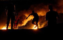 تظاهرات شبانه مردم فلسطین