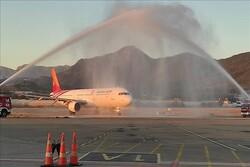 فرود نخستین پرواز هواپیمایی کیش ایر ایران در آنتالیا ترکیه