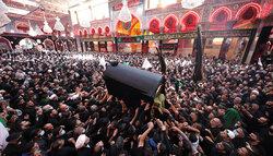 مراسم تشییع پیکر  آیت الله سید محمد سعید حکیم