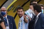 Brezilya-Arjantin maçında yaşanan kaos sonra Lionel Messi'den tepki