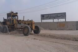 ساماندهی جاده دسترسی به آرامستان جدید بوشهر آغاز شد