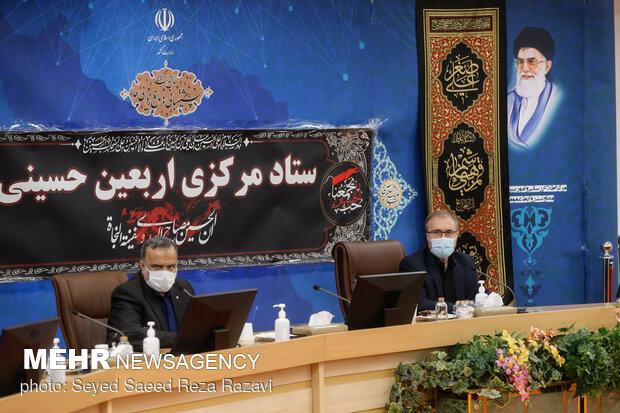 حسین ذوالفقاری رییس ستاد اربعین در جلسه ستاد مرکزی اربعین