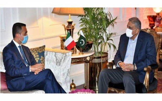 اٹلی کے وزیرخارجہ کی پاکستانی آرمی چیف سے ملاقات
