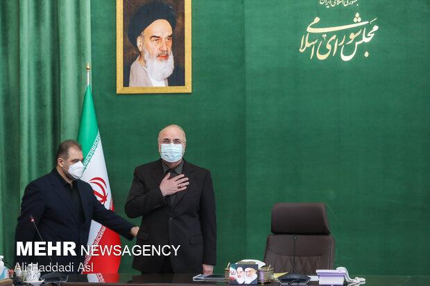 محمد باقر قالیباف رئیس مجلس شورای اسلامی در دیدار با مدال آوران المپیک توکیو
