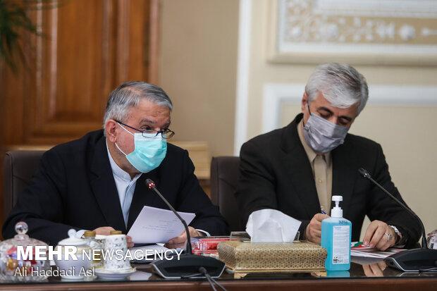 حمید سجادی وزیر ورزش و جوانان و سید رضا صالحی امیری رئیس کمیته ملی المپیک ایران