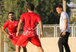 آخرین تمرین تیم فوتبال تراکتور در تبریز قبل از سفر به قطر