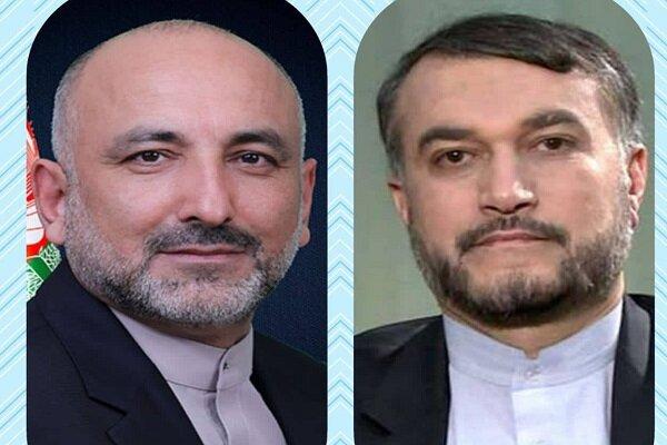 Atmar congratulates Amir-Abdollahian on becoming Iran FM