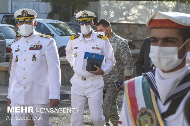 حضور امیر دریادار شهرام ایرانی فرمانده نیروی دریایی ارتش در نشست خبری