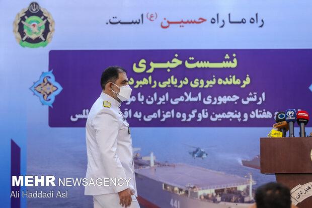 امیر دریا دار شهرام ایرانی فرمانده  نیروی دریایی ارتش جمهوری اسلامی ایران