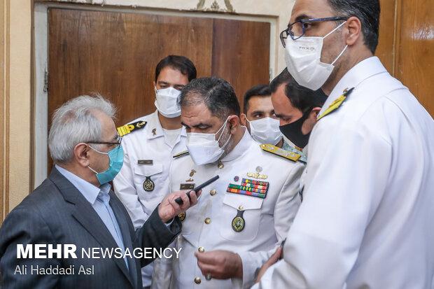 امیر دریادار شهرام ایرانی در جمع خبرنگاران