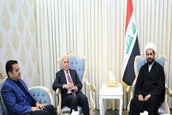الخزعلي يجري محادثات مع وزير الخارجية ومستشار الأمن القومي العراقي