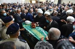 پیکر رئیس مجلس اعلی شیعیان لبنان تشییع شد