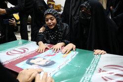 تہران میں مدافع حرم شہید کریمی کے پیکر سے الوداعی تقریب منعقد
