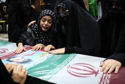 مراسم وداع با پیکر شهید مدافع حرم مرتضی کریمی