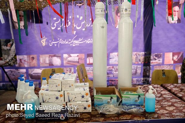 تجهیزات پزشکی به نمایش درآمده در نمایشگاه دستاوردهای بسیج ادارات و وزارتخانه ها