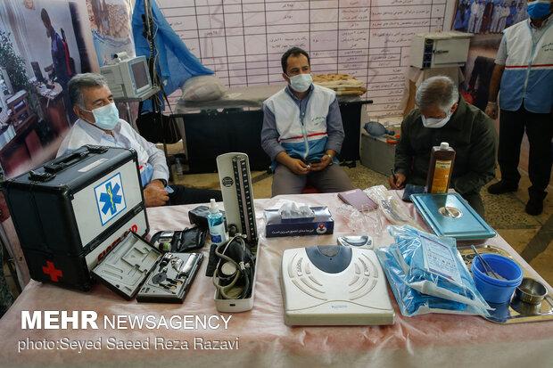 افتتاح نمایشگاه و دستاوردهای بسیج ادارات و وزارتخانه ها در غالب رزمایش مقابله با کرونا و کمک های مومنانه