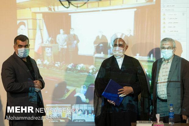 محمد سعیدی کیا ، حجت الاسلام حسین روحانی نژاد و اکبر نیکزاد رئیس جدید بنیاد مسکن انقلاب اسلامی ایران
